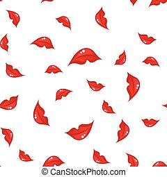 seamless pattern with lips. vector