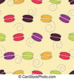 Seamless pattern with macarons. Vector illustration.