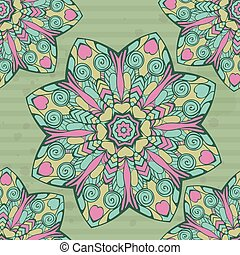 Seamless pattern with mandala.