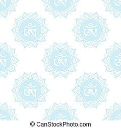 Seamless pattern with mandala,