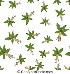 Seamless pattern with mandragora.