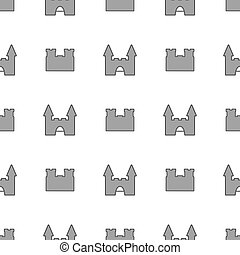 Seamless pattern with medieval castle. Loopable background with fortress.