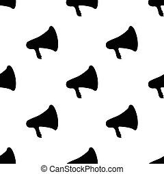 seamless pattern with megaphone