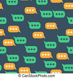Seamless pattern with message bubble