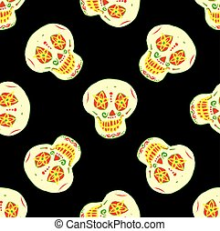 seamless pattern with mexican sugar skulls