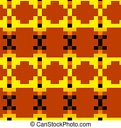 Seamless pattern with Mexico drawing