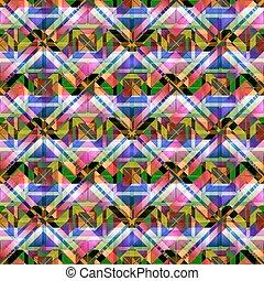 Seamless pattern with mosaic