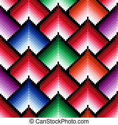 Seamless pattern with multicolor elements - Seamless vector...