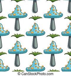 Seamless pattern with mushrooms