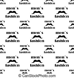 seamless pattern with mustache. vector
