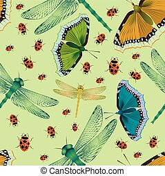 seamless pattern with nature elements