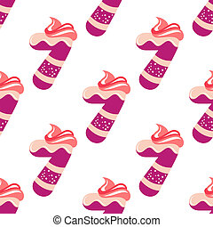 Seamless pattern with number 7