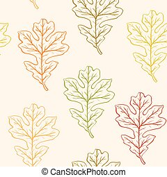 Seamless pattern with oak leaves