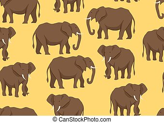 Seamless pattern with of elephants.