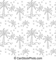 Seamless pattern with of palm trees.