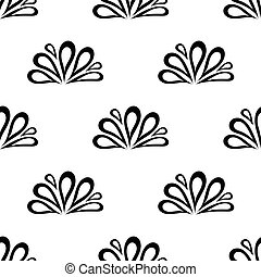 seamless pattern with oil back drop