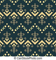 Seamless pattern with openwork arrow shapes