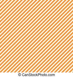 Seamless pattern with orange and white diagonal stripes, seamless texture background. Halloween, thanksgiving holidays decoration