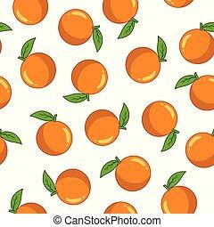 Seamless pattern with orange
