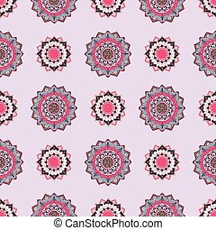 Seamless pattern with oriental ornament.