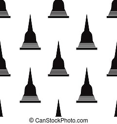 seamless pattern with Pagoda