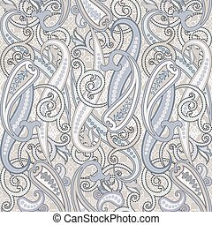 Seamless pattern with paisley.