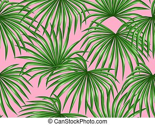 Seamless pattern with palms leaves. Decorative image...