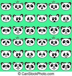 Seamless pattern with panda.