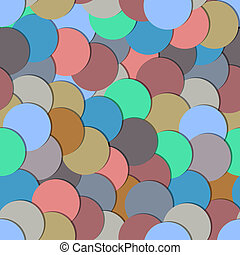 Seamless pattern with paper circles