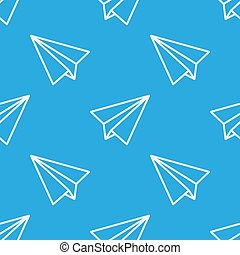 Seamless pattern with paper planes. Vector illustration.