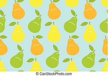 Seamless pattern with Pear
