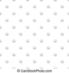 Seamless pattern with pearls.