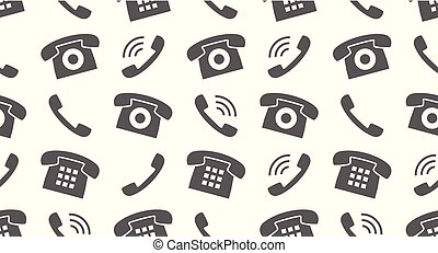 Seamless pattern with Phones