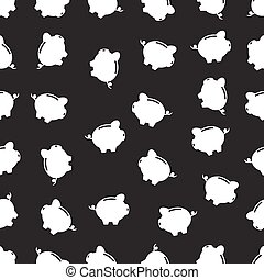 seamless pattern with Piggy