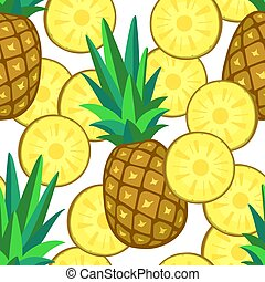 Seamless pattern with pineapple.