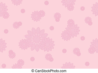 seamless pattern with pink flowers - Seamless pink floral on...