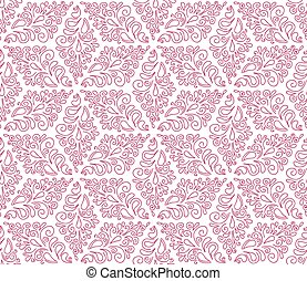 seamless pattern with pink ornament