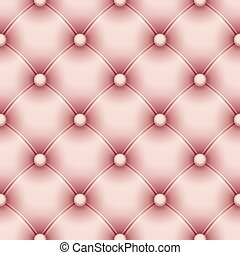 Seamless pattern with pink upholstery