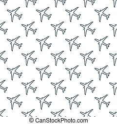 Seamless pattern with planes.