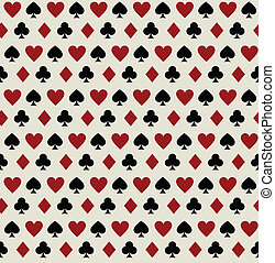Seamless pattern with playing card suits