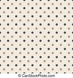 Seamless pattern with polka dots in two colors green and gray - colors Illustration