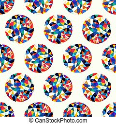 Seamless pattern with polygonal shapes. Simple pattern for the design of textiles and packaging.