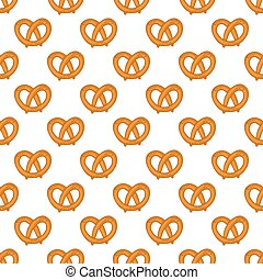 Seamless pattern with pretzels for Oktoberfest