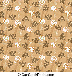 Seamless pattern with primitive elements