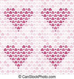 Seamless pattern with purple hearts