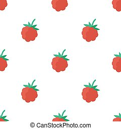 Seamless pattern with raspberry