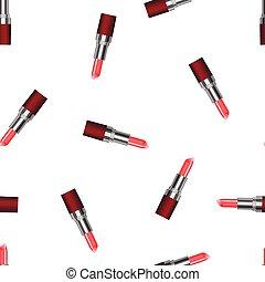 seamless pattern with realistic lipstick