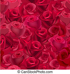 Seamless pattern with realistic roses