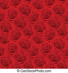 Seamless pattern with red roses