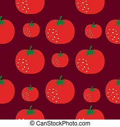 Seamless pattern with red tomatoes.